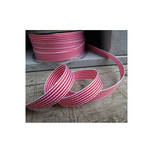 Red And White Striped Grosgrain Christmas Ribbon - shop by category