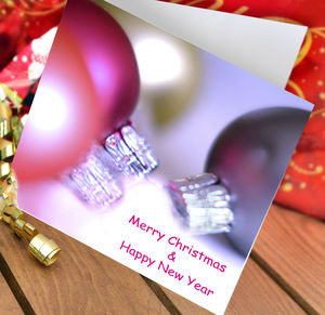 Christmas Baubles Card Pack - cards & wrap