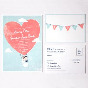 Retro Style Character Wedding Stationery - invitations