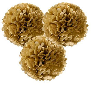 Metallic Gold And Silver Pom Poms - art deco wedding style