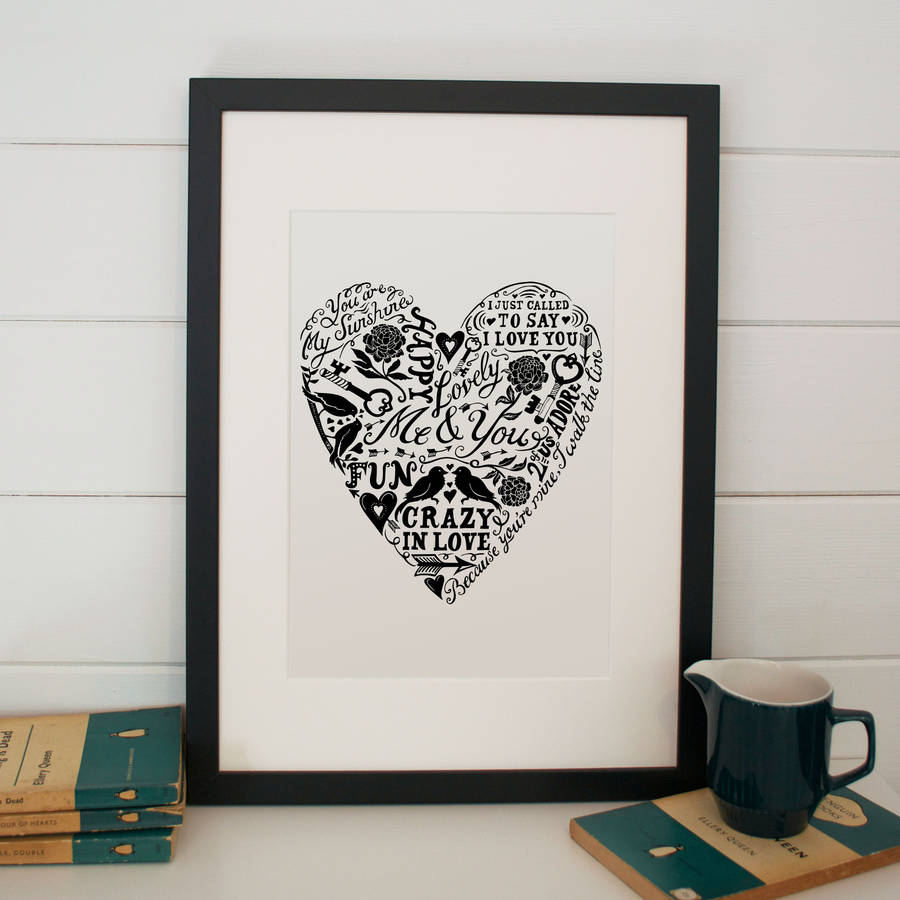 Lucy Loves This Love And Lyrics Print
