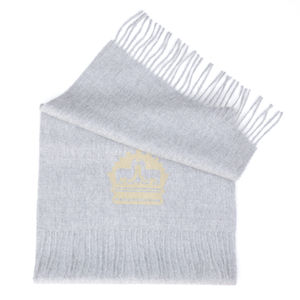The Alpaca Co. Crest Scarf Grey - scarves