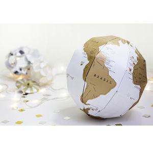 Scratch Map® Globe - mixed media & collage