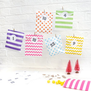 Advent Calendar Rainbow Paper Bag Kit - advent calendars