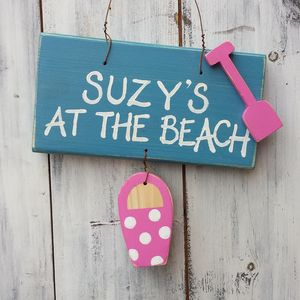 Personalised Beach Sign - door plaques & signs