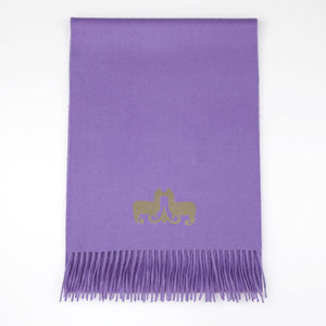 The Alpaca Co. Crest Scarf Purple - scarves