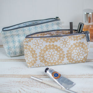 Retro Geometric Sunflower Makeup Bag Sale