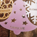 Personalised Bell Decoration in Pearlescent Candy