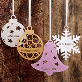 Personalised Christmas Tree Decoration - christmas decorations