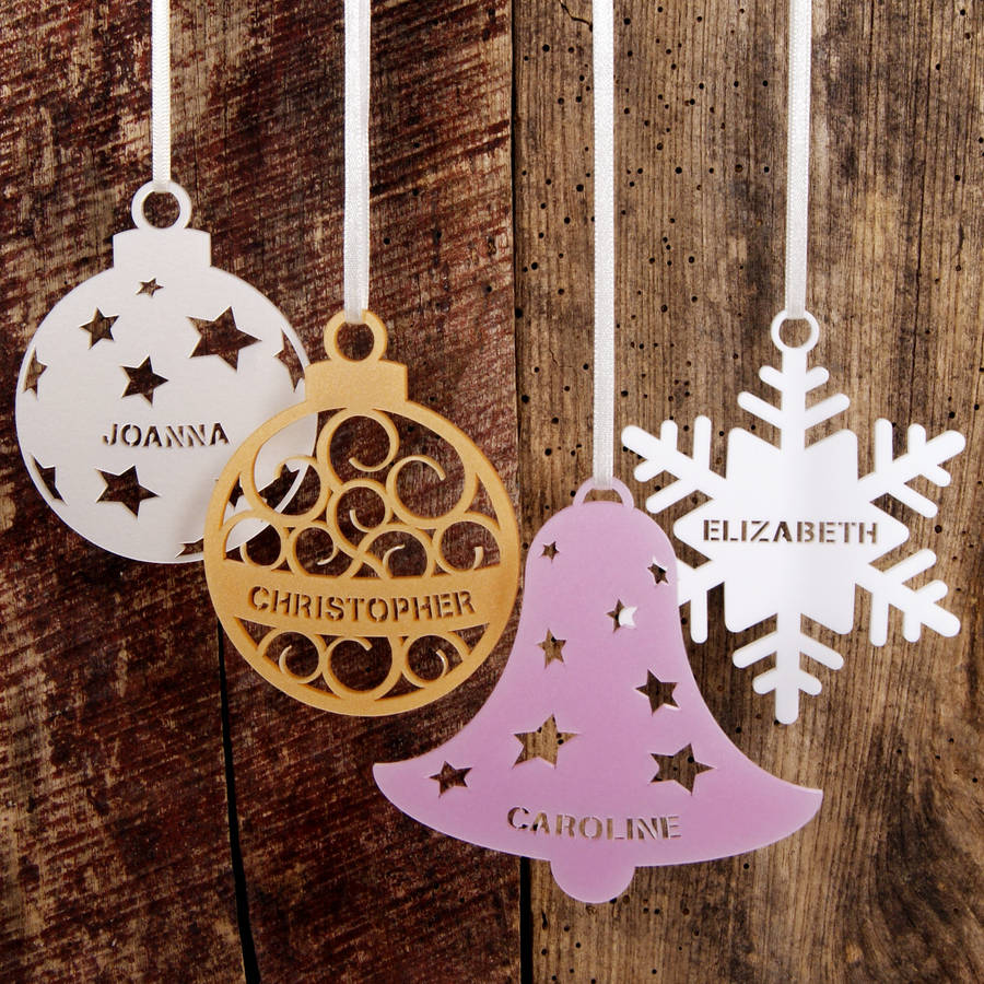 Christmas Tree Decorations Names.Personalised Christmas Tree Decoration