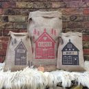 Personalised Christmas Alpine Chalet Sack
