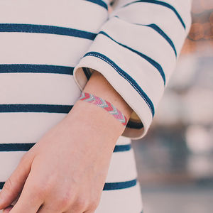 Friendship Bracelet Temporary Tattoos - children's parties
