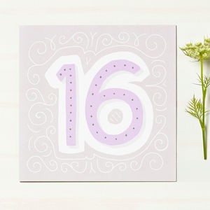 16th Birthday Card - birthday cards