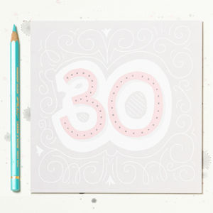 30th Birthday Card - 30th birthday cards