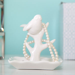 Porcelain Bird Jewellery Stand - jewellery storage & trinket boxes