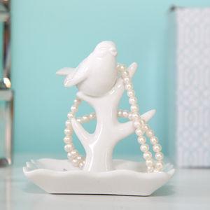 Porcelain Bird Jewellery Stand