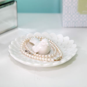 Porcelain Bird Jewellery Tray - jewellery storage & trinket boxes