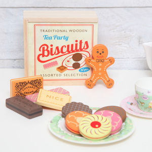 Traditional Wooden Biscuit Gift Set - toys & games