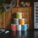 'Bike Part Repeat Pattern' Bone China Mug
