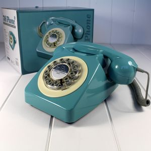 Retro 746 Bt Dial Phone French Blue