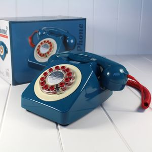 Retro 746 Bt Dial Phone Petrol
