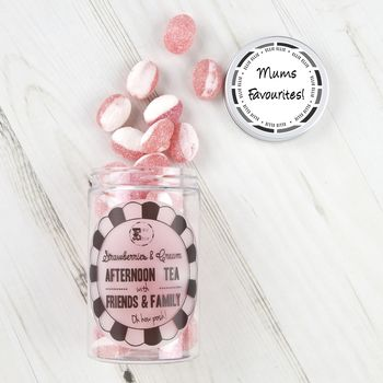 Retro Sweets Jar Strawberries And Cream