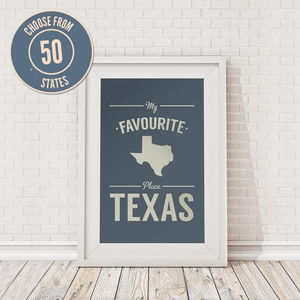 Personalised Favourite Place In America Framed Print