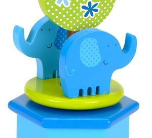Blue Elephant Wind Up Music Box
