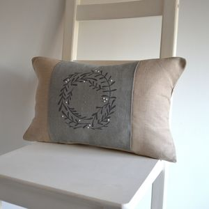 Winter Mistletoe Wreath Cushion Cover - christmas home accessories
