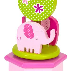 Pink Elephant Wind Up Music Box
