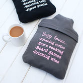 Personalised Favourite Things Hot Water Bottle Cover - gifts for her