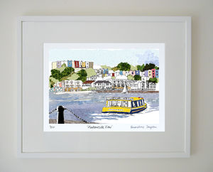 Harbourside View Limited Edition Giclee Print - architecture & buildings