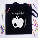 Personalised 'An Apple For' Teachers Tote Bag