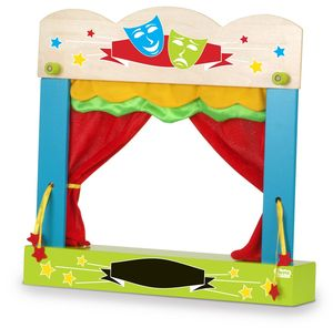Wooden Finger Puppet Theatre - toys & games