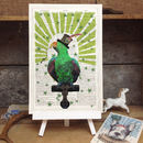 'Circus Parrot' Vintage Dictionary Page Art Print