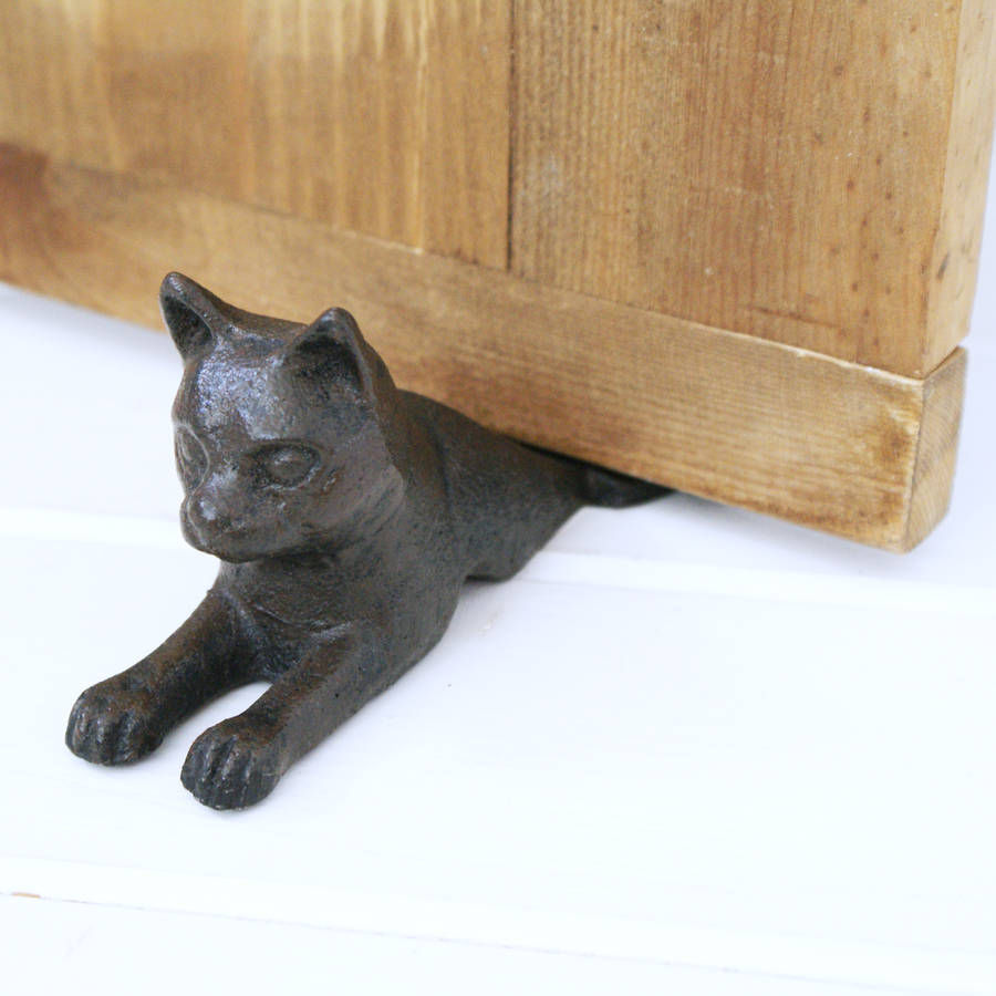 Pin iron cat on pinterest - Cast iron cat doorstop ...