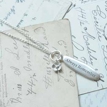 'Always Remember' Pendant Necklace