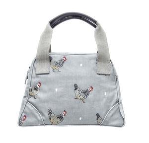 Chicken Oilcloth Mini Stamford Bag