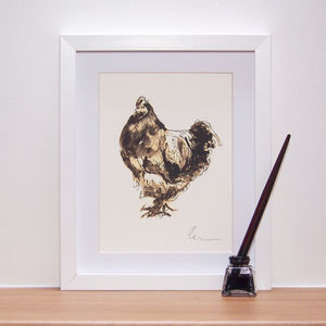 Henry Chicken Print And Original - animals & wildlife