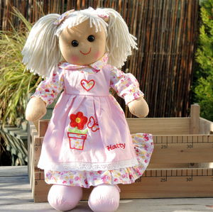 Personalised Rag Doll - baby shower gifts