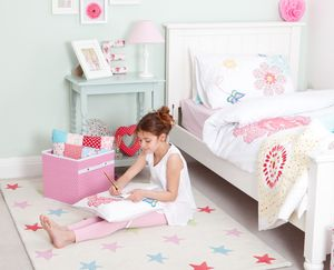 Girls Star Rug - children's room accessories
