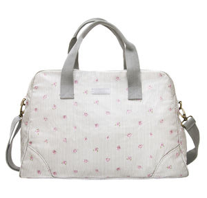 Rose Oilcloth Weekend Stamford Bag - holdalls & weekend bags
