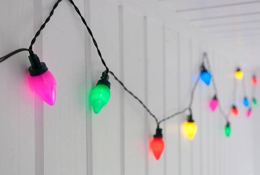 String Of Christmas Lights Image : vintage coloured string christmas lights by i love retro notonthehighstreet.com