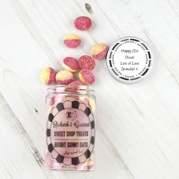 Retro Sweets Jar Rhubarb & Custard