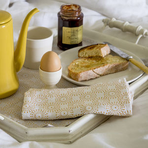 Dot Print Linen Napkin - table linen