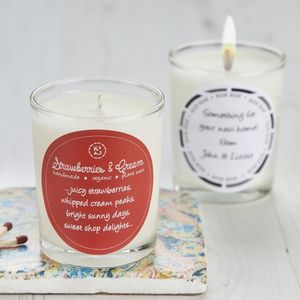 Retro Sweet Scent Strawberries And Cream Candle - weddings sale