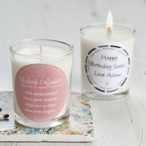 Retro Sweet Scent Rhubarb & Custard Candle - candles & candlesticks
