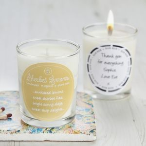 Retro Sweet Scent Sherbet Lemons Candle - candles & candlesticks