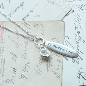 'The World Is Your Oyster' Pendant Necklace - graduation gifts
