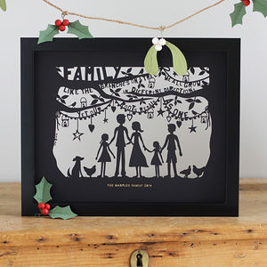 Family Papercut Or Print To Personalise - last-minute christmas gifts for her
